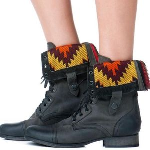 Steve Madden Chevie Combat Boots leather